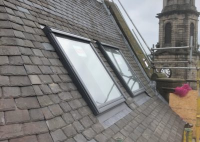 George Street | Strip and re-slate, re-render and new Velux windows