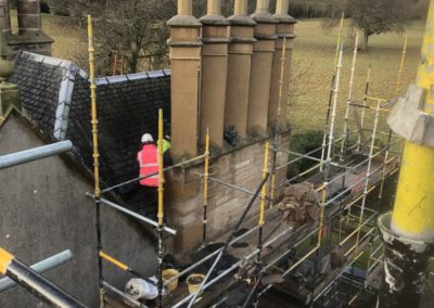 Bonnytoun House | Chimney render and masonry works