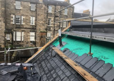 Hill Street North Lane | New slating and lead works